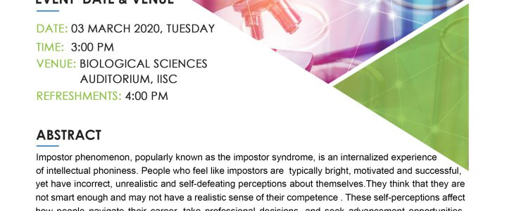 "Seminar ""Impostor Syndrome and Academic Training in STEM"", 03 March 2020"